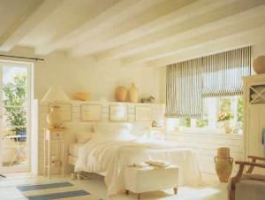 Потолок в спальне в стиле прованс