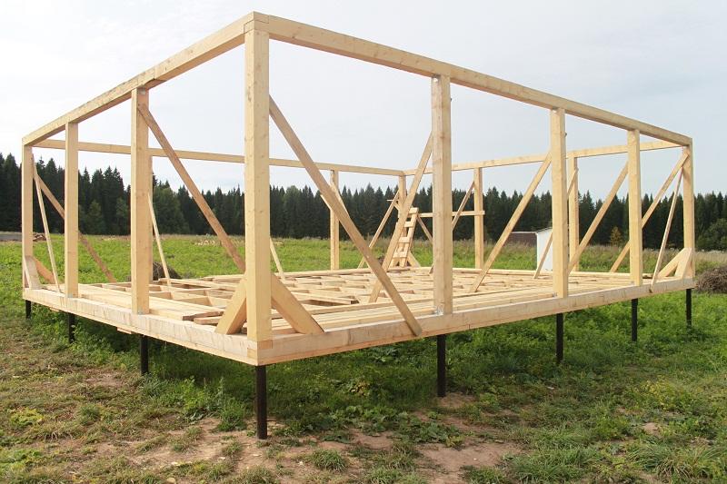 Как сделать каркас деревянного дома
