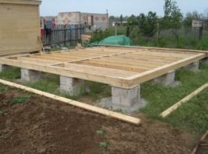 Столбчатый фундамент для каркасного дом