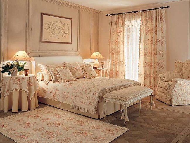 Интерьер спальни прованс фото