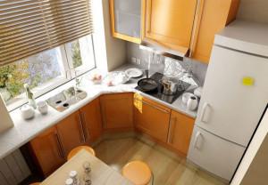 6 кв метров на кухне с холодильником