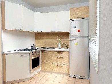 Дизайн кухни 6 м с холодильником