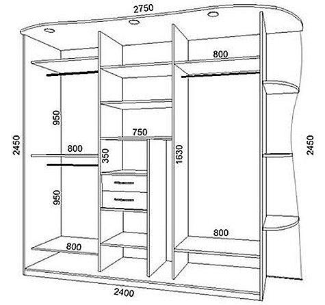 Конструкция шкафа купе своими руками