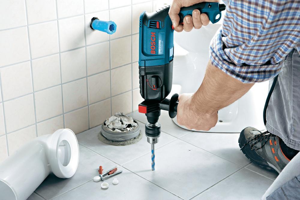 Drilling ceramic tiles