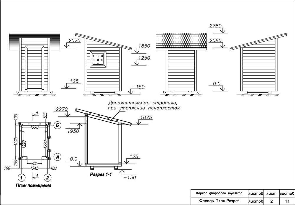 Как построить туалет на дачи своими руками