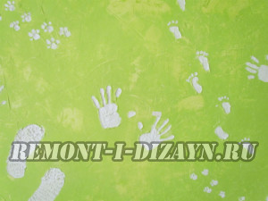 отпечатки на стене    в  виде  рук,  ног,  лап   животных при косметическом ремонте