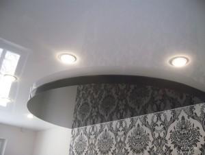 Натяжные потолки: фото для зала двухуровневые цена
