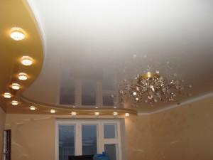 Натяжные потолки: фото для зала двухуровневые, фото, цена