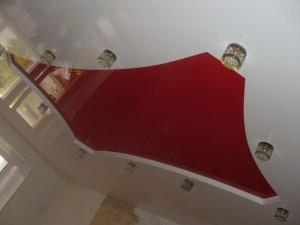 Натяжные потолки: фото для зала двухуровневые