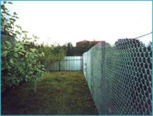забор своими руками сетка рабица
