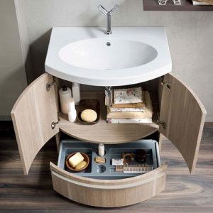 Тонкости подбора мебели для маленькой ванной комнаты