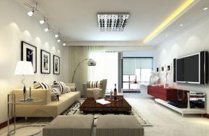 Организация освещения гостиной