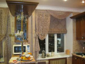 Кухонные шторы- фото, современный стиль для маленькой кухни