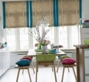 Кухонные шторы- фото, современный стиль