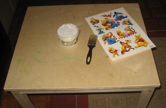 Декупаж стола своими руками фото пошагово
